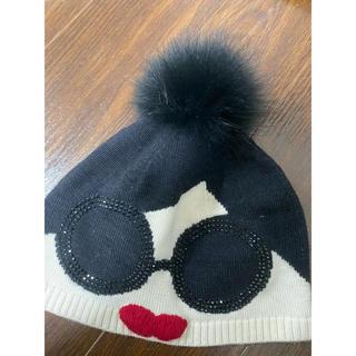 アリスアンドオリビア(Alice+Olivia)のアリスオリビア リアルファーニット帽(ニット帽/ビーニー)