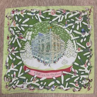 エルメス(Hermes)のエルメス カレ フォーブル24番地のクリスマス グリーン(バンダナ/スカーフ)