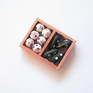 EPOCH - キノコ・キュウリ シルバニアファミリー 初期 ミニチュアコレクション