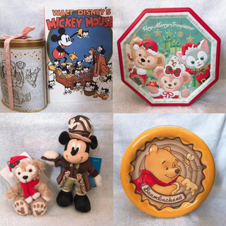 ディズニー(Disney)のディズニー 缶 箱 ダッフィー ミッキー ぬいぐるみ(キャラクターグッズ)
