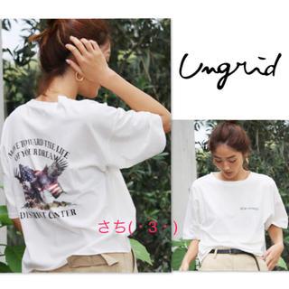 Ungrid - 新品♡Ungrid♡バックプリントイーグルTee