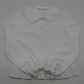 *1169・CHOPIN deux 女の子 ブラウス オフホワイト 130cm(ドレス/フォーマル)