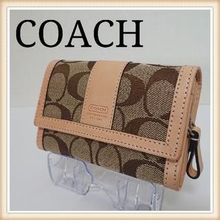 コーチ(COACH)の【週末セール!】 COACH コーチ 二つ折り財布 キャンバス レザー(財布)