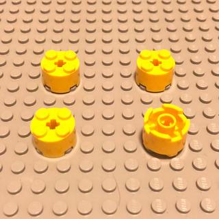 レゴ(Lego)のLEGO レゴ 正規品 黄 丸 計4個【76番】(積み木/ブロック)