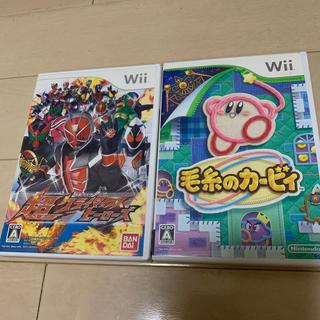 ウィー(Wii)の仮面ライダー 超クライマックスヒーローズ Wii&毛糸のカービィ2個set(家庭用ゲームソフト)
