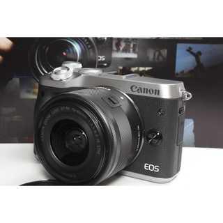 キヤノン(Canon)の❤️スマホと繋がるミラーレス❤️Canon EOS M6 レンズキット(ミラーレス一眼)