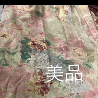花柄カーテン ピンクベージュ 15万程度で購入(カーテン)