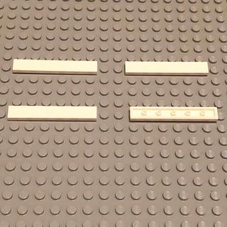レゴ(Lego)のLEGO レゴ 正規品 白 1×6 レール  計4個【77番】(積み木/ブロック)