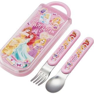 ディズニー(Disney)の[新品 未開封]  ディズニー プリンセス  /  スプーンフォークセット(弁当用品)