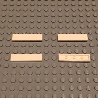 レゴ(Lego)のLEGO レゴ 正規品 白 1×4 レール  計4個【78番】(積み木/ブロック)