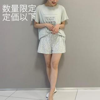 gelato pique - ボタニカル レーヨンシャツ パンツ◆ジェラートピケ 新品未使用 上下セット