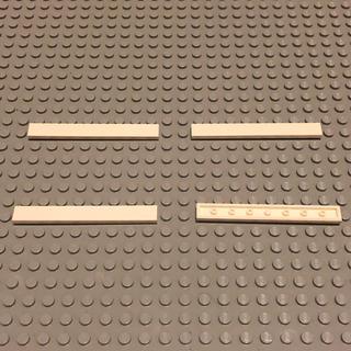 レゴ(Lego)のLEGO レゴ 正規品 白 1×8 レール  計4個【79番】(積み木/ブロック)