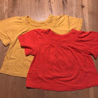 ユニクロ(UNIQLO)のユニクロ キッズ  シャーリング Tシャツ 2枚セット(Tシャツ/カットソー)
