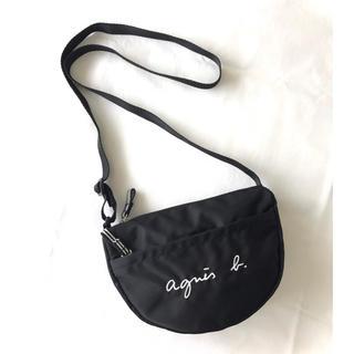 agnes b. - 【新品同様】アニエスベー『GL11E』ロゴポシェット/ミニショルダーバッグ/黒