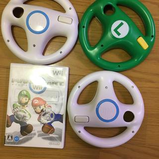 ウィー(Wii)のマリオカートWii ハンドル セット(家庭用ゲームソフト)