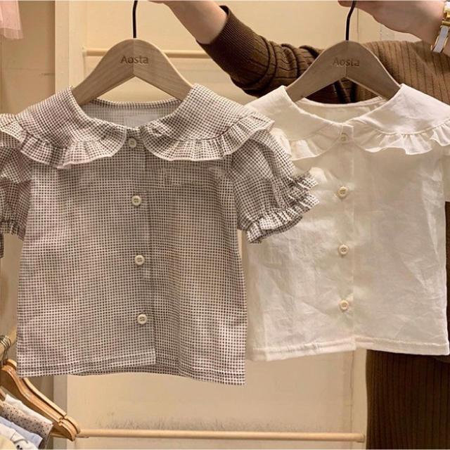 韓国子供服 ブラウス キッズ/ベビー/マタニティのキッズ服女の子用(90cm~)(ブラウス)の商品写真