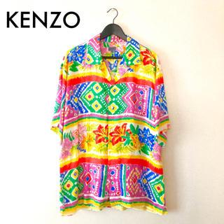 ケンゾー(KENZO)のKENZO/半袖シャツ 花柄 アロハ ギャルソン ヨウジヤマモト unused(シャツ)