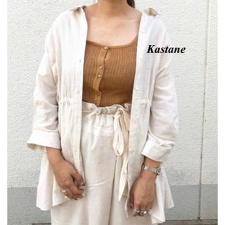 Kastane - 新品 Kastane ジャガード楊柳ボタンタンク