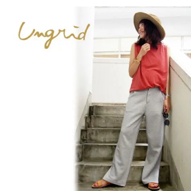 Ungrid(アングリッド)のunglid✤アングリッド スウェットパンツ 美品 レディースのパンツ(カジュアルパンツ)の商品写真