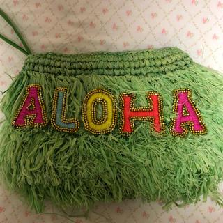 ロンハーマン(Ron Herman)のハワイ購入 ストロー製クラッチバッグ(かごバッグ/ストローバッグ)