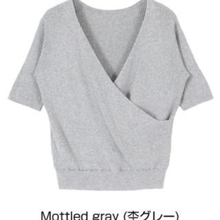 ティティベイト(titivate)の美品✨titivate  2wayカシュクールライトニット Lサイズ(カットソー(半袖/袖なし))