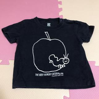Design Tshirts Store graniph - グラフィス はらぺこあおむし  Tシャツ ネイビー 90 グラニフ 綿100%