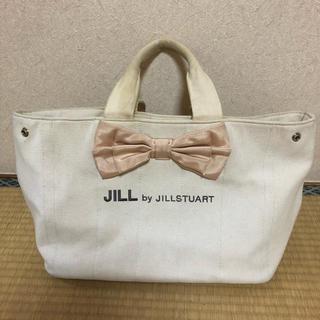 ジルバイジルスチュアート(JILL by JILLSTUART)のジルバイ ジルスチュアート  トートバッグ リボン バッグ かばん ピンク(トートバッグ)