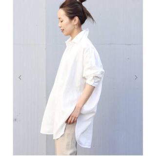 Plage - 新品★ Plage Linen Big 白シャツ