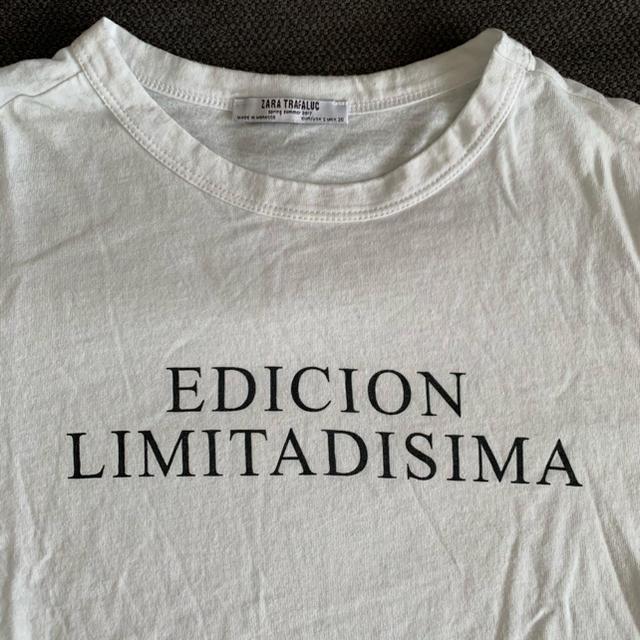 ZARA(ザラ)のZARA ロゴ Tシャツ レディースのトップス(Tシャツ(半袖/袖なし))の商品写真