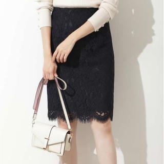 ナチュラルビューティーベーシック(NATURAL BEAUTY BASIC)のスカラレースタイトスカート(ひざ丈スカート)