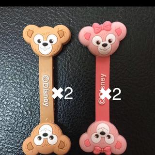ディズニー(Disney)の日本未発売  ダッフィー シェリーメイ コードクリップ 2点  (キャラクターグッズ)