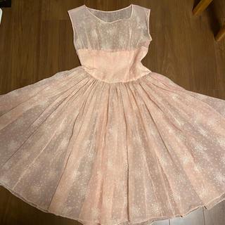 グリモワール(Grimoire)の1950s pink dress(ひざ丈ワンピース)