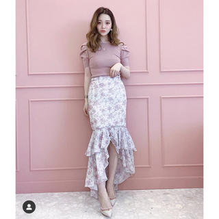 eimy istoire - 新品 Amanda flower マーメイド スカート ピンク 花柄