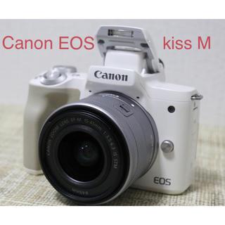 キヤノン(Canon)のCanon EOS kiss Mズームレンズキット ホワイト(ミラーレス一眼)