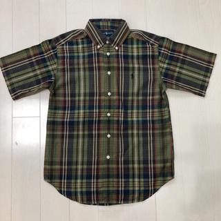 ラルフローレン(Ralph Lauren)のラルフローレン 半袖シャツ ボタンダウン チェックシャツ 150 未着用(ブラウス)