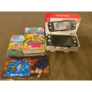 Nintendo Switch - ニンテンドースイッチライト、あつまれどうぶつの森ソフト、攻略本セット