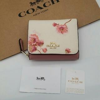 コーチ(COACH)の最新作 COACH 折り財布 新品 花柄(財布)