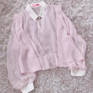 ザラ(ZARA)の今週限定 レア baby pink tops(シャツ/ブラウス(長袖/七分))