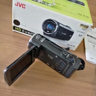 ケンウッド(KENWOOD)の美品!JVC KENWOOD ビデオカメラ SDカード対応  GZ-E10  (ビデオカメラ)