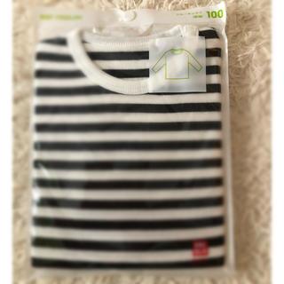 ユニクロ(UNIQLO)の100cm 長袖 クールネックTシャツ(Tシャツ/カットソー)