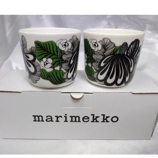 マリメッコ(marimekko)の①訳有り 新品未使用 マリメッコ ラテマグ 2つセット(グラス/カップ)