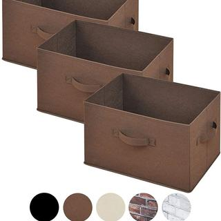 どこでも収納ボックス(3個セット) ブラウン332(ケース/ボックス)