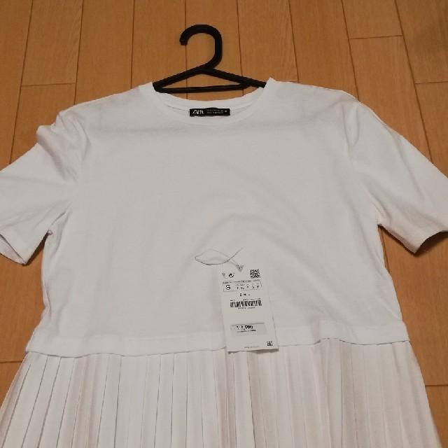 ZARA(ザラ)の[れぃらん様専用]ZARA  Tシャツ 白 レディースのトップス(Tシャツ(半袖/袖なし))の商品写真