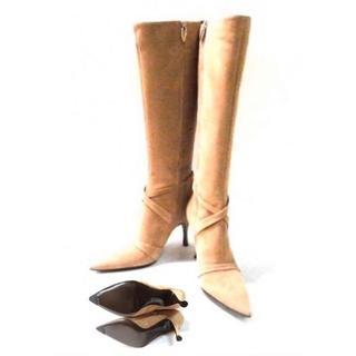 セルジオロッシ(Sergio Rossi)の美品!セルジオロッシ sergio rossi ロングブーツ 35 スエード 靴(ブーツ)