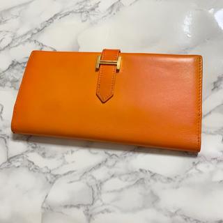 エルメス(Hermes)のエルメス ベアン ボックスカーフ (財布)