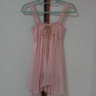 チャティアロマ(Chatty〜aroma〜)の編み上げキャミチュニック フリーサイズ(ミニワンピース)