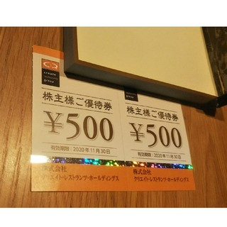 クリエイトレストラン株主優待1000円(レストラン/食事券)