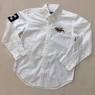 ラルフローレン(Ralph Lauren)のラルフローレン  長袖ボタンダウンシャツ 140 美品 白シャツ(ブラウス)