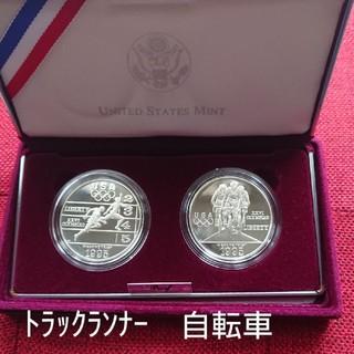 1995 アトランタオリンピック 記念硬貨  マラソン・体操セット(貨幣)