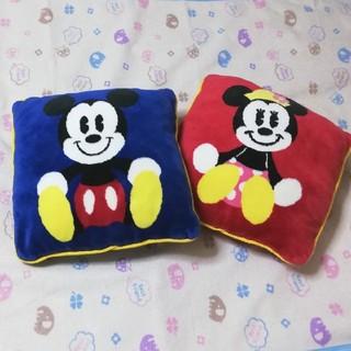 ディズニー(Disney)の【ディズニー】ミッキー & ミニー   クッション      2点セット(クッション)